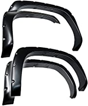 Tyger Auto TG-FF8C4058 for 1999-2006 Chevy Silverado/GMC Sierra (Incl. 2007 Classic) | Paintable Smooth Matte Black Pocket Bolt-Riveted Style Fender Flare Set, 4 Piece