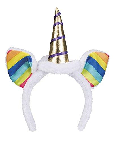 Boland 04249 - Tiara Rainbow Unicorn, Einhorn, Fantasy, Plüsch, Karneval, Fasching, Motoparty, Verkleidung, Theater