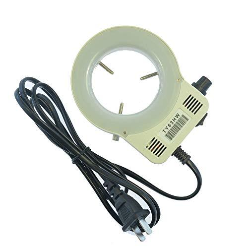 LED einstellbare Ringlicht Trinokular Stereo-Mikroskope-Beleuchtungslampe for Industriemikroskop Industrielle Kamera-Lupe (Color : EU Plug)