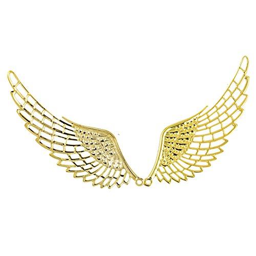 freneci 6 × Colgantes con Dijes de ángel en Tono Dorado, Collar, Hallazgos de Joyería