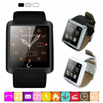 Silver Waterproof U10 Sport Bluetooth Smart Wrist Watch for Smartphones