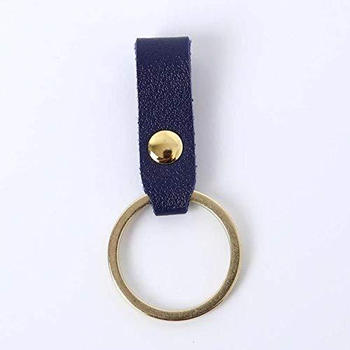 Miner Handmade Strap Schlüsselhalter Kunstleder Seil PU Schlüsselbund Schlüsselring Männer Frauen Schlüsselanhänger Auto Anhänger Zubehör, Blau