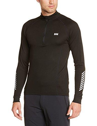 Helly Hansen HH Dry Charger sous vêtement Technique Manches Longues 1/2 Zip Homme, Noir, FR : XXL (Taille Fabricant : 2XL)