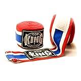 Vendas protectoras profesionales Kingtop TKHWR-01 de algodón para boxeo Muay Thai, color Thai flag, tamaño Length 4.5m
