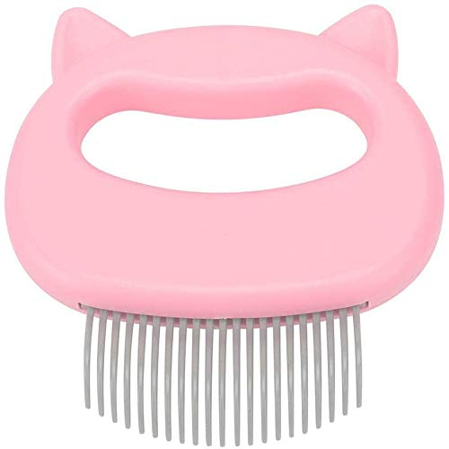 Hongyi Cat Massage Comb Pet Cat Dog Hair Removal Relaxing Comb Grooming Hair Removal Shedding Cleaning Tool (Pink)