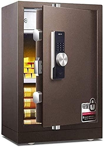 Caja de cerradura electrónica de acero ignífugo Caja fuerte digital, 43X38X70Cm Caja de cerradura grande con pantalla LED, Construcción de acero sólido con cerradura de cerrojo Diseño de anclaje a la
