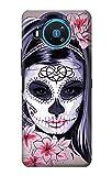Sugar Skull Steam Punk Girl Gothic Etui Coque Housse pour Nokia 8.3 5G