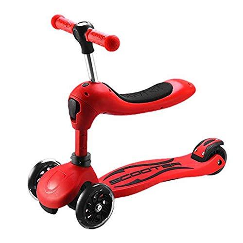 Patinetes clásicos Scooter For Niños, 3 Cuatro Ruedas Puede Sentarse 1-8 Años Zapatilla Tres En Uno Kid Yo Car