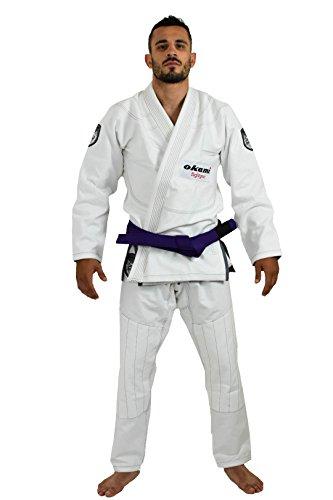 OKAMI Fightgear Uomo Shield BJJ GI A3 White