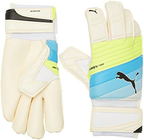 PUMA Torwarthandschuhe EvoPower Grip 2.3GC Fußball, White/Atomic Blue/Safety Yellow, 8.5
