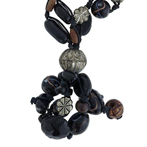 Behave Elegante parelketting voor vrouwen - Mooie ketting met parelhanger met zwarte kleur - cadeau-idee voor vrouwen