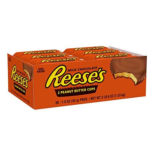 Reese's Peanut Butter Cups Scatola da 36 pezzi 42g per barretta di cioccolato con burro di arachidi