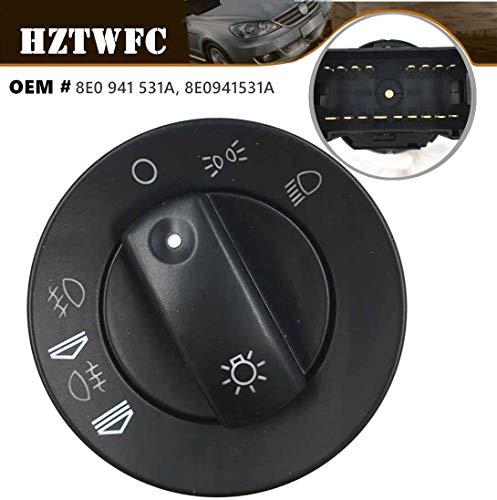 HZTWFC Koplamp Mistlamp Schakelaar 8E0 941 531A 8E0941531A Compatibel voor Audi A4 B6 S4 Quattro + Avant 2000-2008
