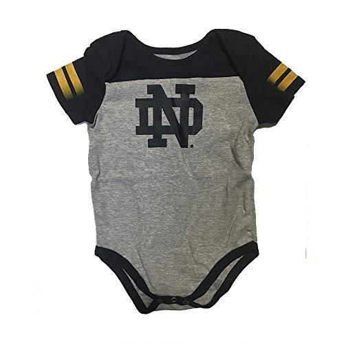 Outerstuff Notre Dame Fighting Irish Baby 12m-24m Lil Blocker S/S Creeper Gray (24M)