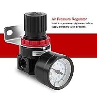 G1 / 4アルミニウム合金制御バルブゲージ空気圧空気圧レギュレーター、空気圧レギュレーター、産業工場向けに調整可能