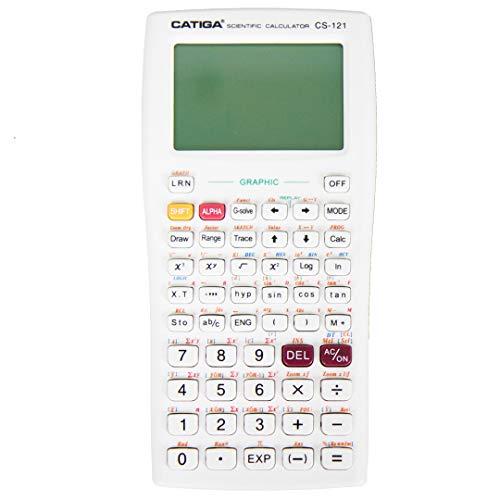 Scientific Graphic Calculator – CATIGA CS121 - Scientific and Engineering Calculator - Programmable System (White)