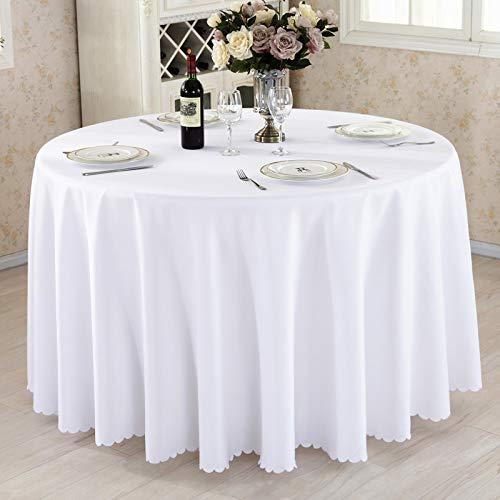 DJUX Mantel de Tejido Liso de Color Puro Mesa de Conferencia Redonda Cubierta de Mesa Falda de Mesa Falda de Mesa Hotel Restaurante Mantel 240cm