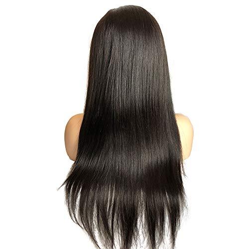 VKHair 20' Perucken Brazilian Human Hair Glueless Full Lace Wig Echthaar 130% Density Straight Hair Wig with Baby Hair