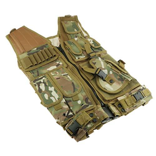 lahomia Chaleco Táctico Molle Combat Chaleco con Múltiples Bolsillos para Fanáticos Militares - CP