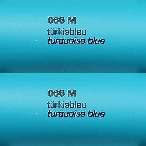 6,03€/m²  Rapid Teck® Matt Folie - 066 Tuerkis Blau - Klebefolie - 5m x 63cm - Folie Matt Plotterfolie - Klebefolie selbstklebend - auch als Moebelfolie -Dekofolie