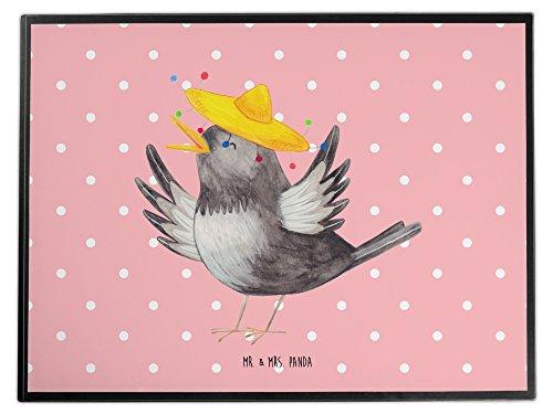 Mr. & Mrs. Panda Schreibtischunterlage Rabe mit Sombrero - 100% handmade in Norddeutschland - Rabe, Vogel, Vögel, Spruch positiv, fröhlich sein, glücklich sein, Glück Spruch, froh, Elster, Motivation Schreibtischunterlage, Schreibtisch, Unterlage Rabe, Vogel, Vögel, Spruch positiv, fröhlich sein, glücklich sein, Glück Spruch, froh, Elster, Motivation