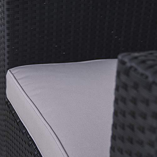 SVITA Sessel für Polyrattan Lounge Lugano/California Ergänzung Rattan (Schwarz) - 4