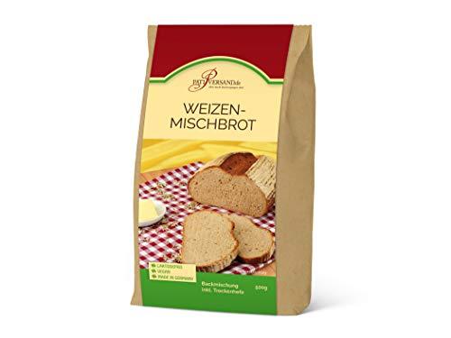 Backmischung Weizenmischbrot 500g mit 70 % Weizen und 30% Roggen, inkl. Hefe