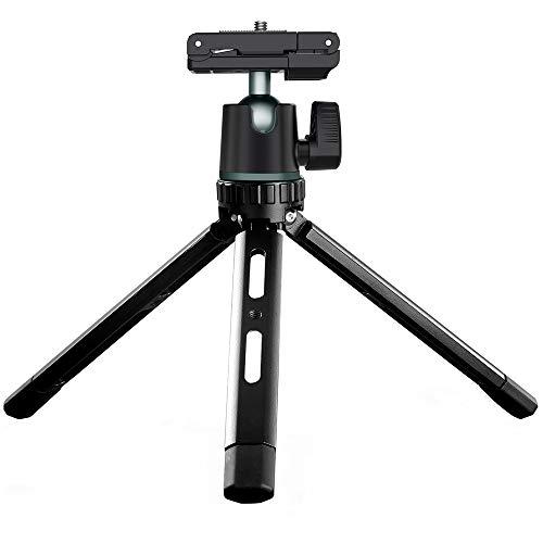 Trípode para teléfono Soporte de Escritorio de aleación de Aluminio Soporte Giratorio de 360 Grados para cámara Compatible con cámara de teléfono para Selfies de Vlog
