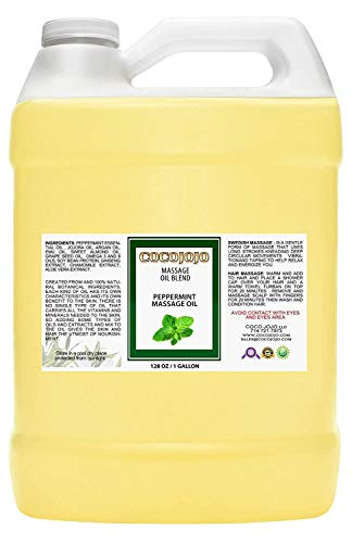 1 Gallon Peppermint Essential Oil-mint Oil- With Pure Jojoba, Grape Seed, Argan Oil and with a Very Rich Selection of Plants Extract