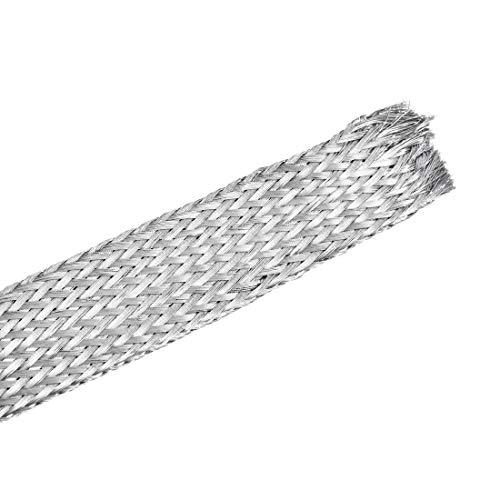 sourcing map Cubierta de manguera extensible de acero inoxidable 304 de 9.8 pies – 19/32 pulgadas