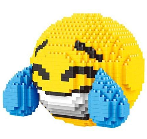 Balody Emoticon mit Tränen des Lachens / Glück. Abbildung zum Zusammenbau mit Nanoblöcken.