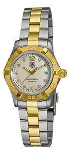 TAG Heuer Women's WAF1425.BB0825 Aquaracer 28mm Two-Tone Diamond Dial Watch image
