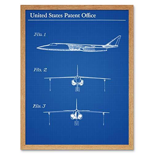 Holthy Hudson Boeing Vliegtuig Vliegtuig 1956 Patent Art Print Omlijst 12x16