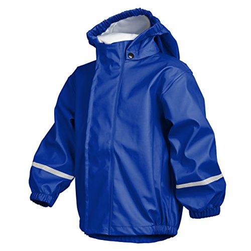 smileBaby wasserdichte Kinder Regenjacke Regenmantel mit Abnehmbarer Kapuze Unisex in Blau 116