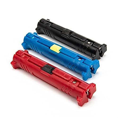 ZHANGM Multifuncional Universal Stripping Tool Cable Peeler Pinzas automáticas Pinzas de pelado Alambre Stripper Cable Herramientas Herramientas de engarce (Color : BLACK)