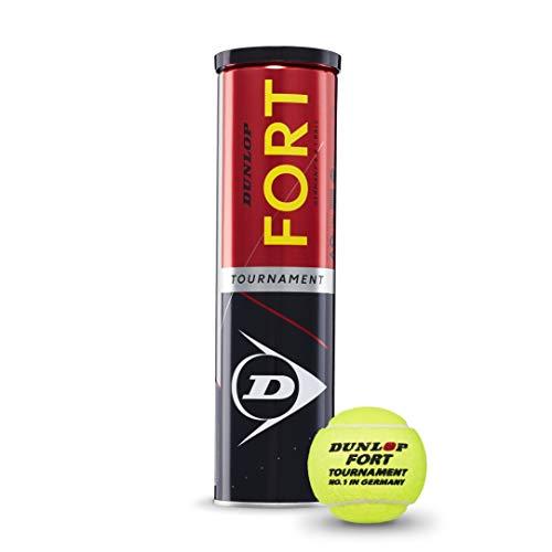 Dunlop Unisex– Erwachsene Fort Tournament 4er, gelb, Einheitsgröße