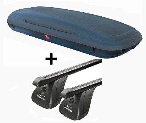 Dachbox VDPCA480 480Ltr carbonlook + Stahl Dachträger Aurilis Original kompatibel mit Toyota Verso (5 Türer) ab 2009