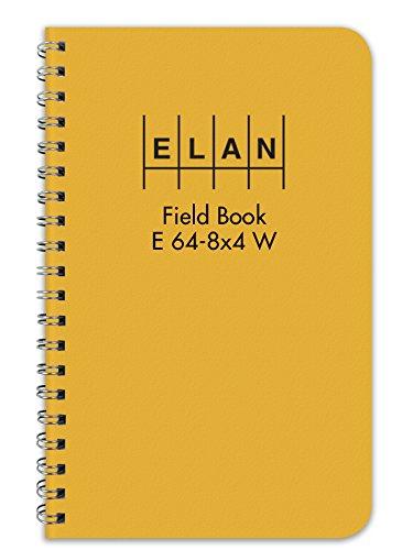 Elan Publishing Company E64-8x4W Wire-O Field Surveying Book 4 ⅞ x 7 ¼ Yellow Stiff Cover (E64-8x4W YEL)