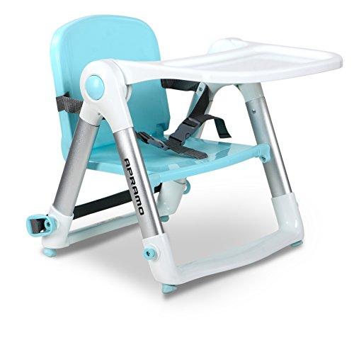 apramo Flippa – Chaise haute pour bébé portable, couleur BLEU