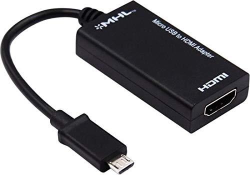 WiseGoods - Adaptador micro USB a HDMI, conector micro USB a conector hembra, cable convertidor HDMI, Samsung Galaxy Nexus, Galaxy S2, etc.