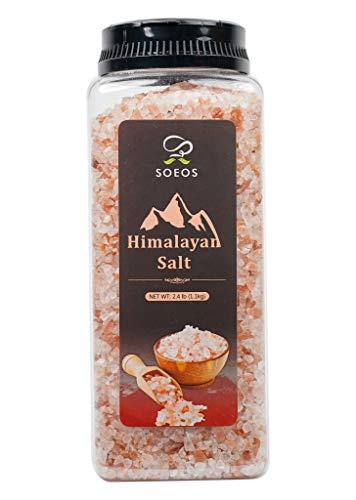 Soeos Himalayan Salt, Pink Salt, 2.4 lb (38.8oz). Himalayan Pink Salt, Coarse Grain Himalayan Salt, Natural Pink Salt - For Grinders and Salt Mills, Natural Pure Rock Salt.