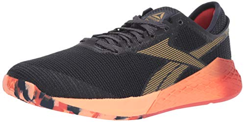 Reebok Women's Nano 9 Cross Trainer, Heritage Navy/Rosette/Sunglow, 8 M US
