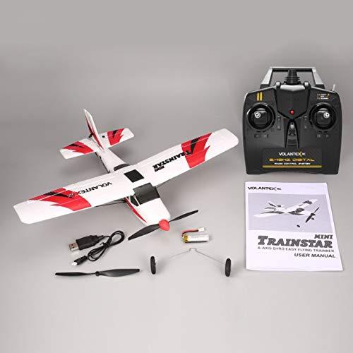 FEK VOLANTEX V761-1 2.4Ghz 3CH Mini Trainstar Control Remoto de 6 Ejes Avión RC Avión de Aviones no tripulados de ala Fija RTF para niños Regalo Presente