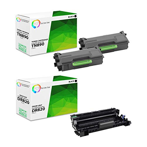 TCT Premium Compatible Toner Cartridge and Drum Unit Replacement for Brother TN-890 DR-820 Works with Brother HL-L6400DW L6400DWT L6250DW, MFC-L6900DW L6750DW Printers (2 TN890, 1 DR820) - 3 Pack