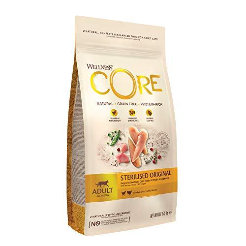 Wellness CORE Sterilised, Katzenfutter trocken für sterilisierte Katzen, getreidefrei, hoher Fleischanteil, 1,75 kg