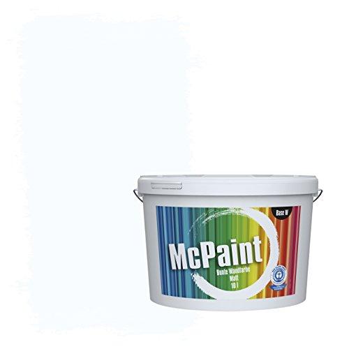 McPaint Bunte Wandfarbe Weiß - 10 Liter - Weitere Weiße und Helle Farbtöne Erhältlich - Weitere Größen Verfügbar
