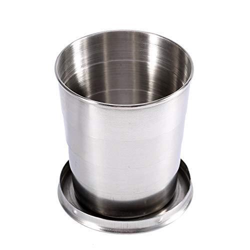 Copa de acero inoxidable plegable - Taza de camping plegable bebida vaso...