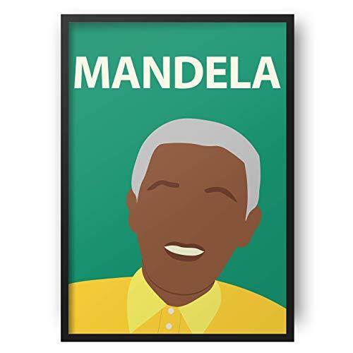 Nelson Mandela Poster / / South Africa - Wandkunst - Portrait - Retro-Kunst - bunt - minimalistisch - Wohnheim Dekor - Black Lives Matter - Black History - Classroom