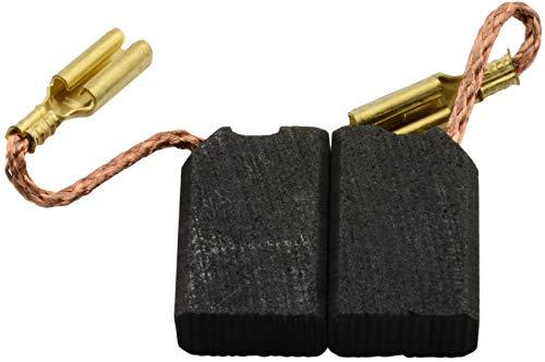 Escobillas de Carbón para DEWALT DW458 amoladora - 6,3x10x14mm - 2.4x3.9x5.5
