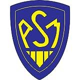Art Déco Stickers - Sticker Club de Rugby Asm Montferrand Hauteur - Hauteur 25cm